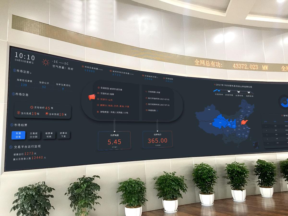北京電力交易中心可視化大屏